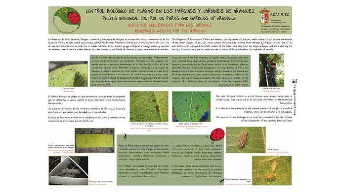 Poster on the butterflies of La Granja (National Heritage)