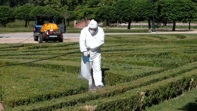 Pythium treatment in historic gardens